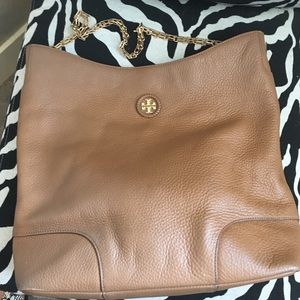 Tory Burch Whipstitch Bark Leather Hobo